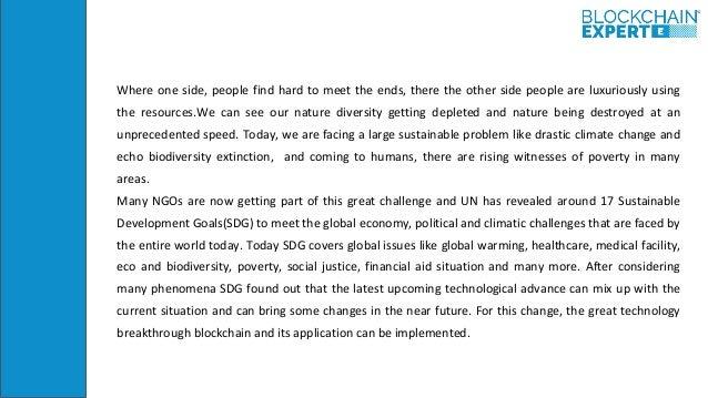 Blockchain and Sustainability Slide 3