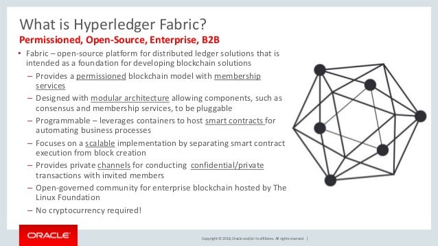 Copyright © 2018, Oracle and/or its affiliates. All rights reserved. | What is Hyperledger Fabric? • Fabric – open-source ...