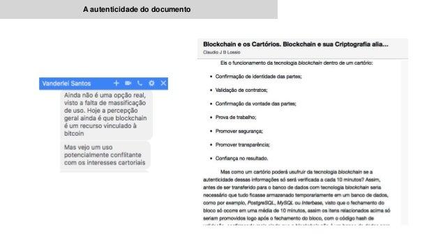 A autenticidade do documento