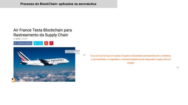 Processo do BlockChain: aplicados na aeronáutica