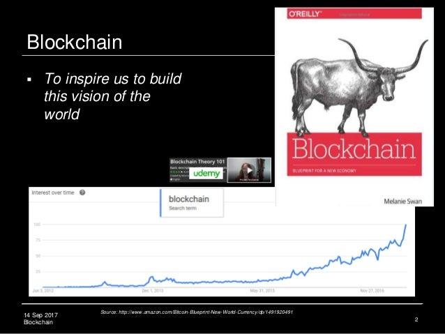 14 Sep 2017 Blockchain Blockchain 2 Source: http://www.amazon.com/Bitcoin-Blueprint-New-World-Currency/dp/1491920491  To ...
