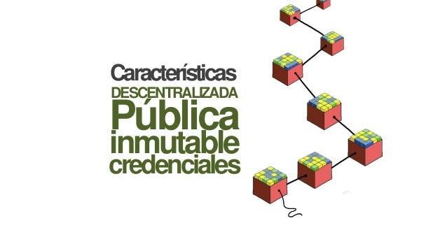 Características DESCENTRALIZADA credenciales inmutable Pública