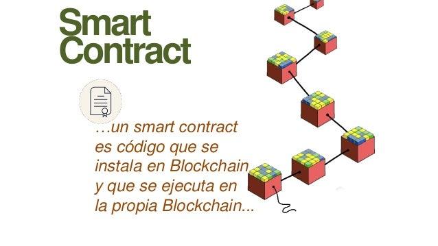 Smart Contract …un smart contract es código que se instala en Blockchain y que se ejecuta en la propia Blockchain...