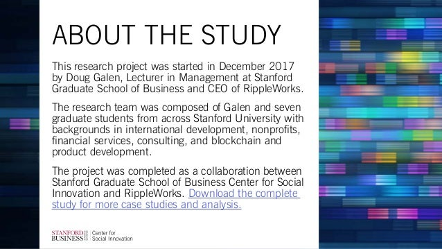 This research project was started in December 2017 by Doug Galen, Lecturer in Management at Stanford Graduate School of Bu...