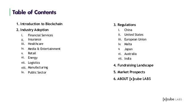 Blockchain Landscape Report 2019