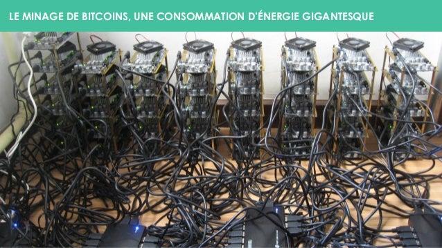 LE MINAGE DE BITCOINS, UNE CONSOMMATION D'ÉNERGIE GIGANTESQUE
