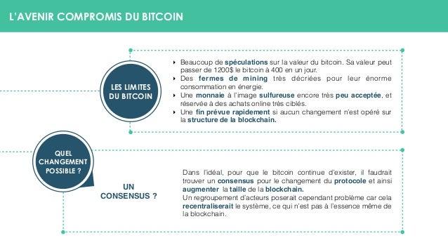 L'AVENIR COMPROMIS DU BITCOIN ‣ Beaucoup de spéculations sur la valeur du bitcoin. Sa valeur peut passer de 1200$ le bitco...