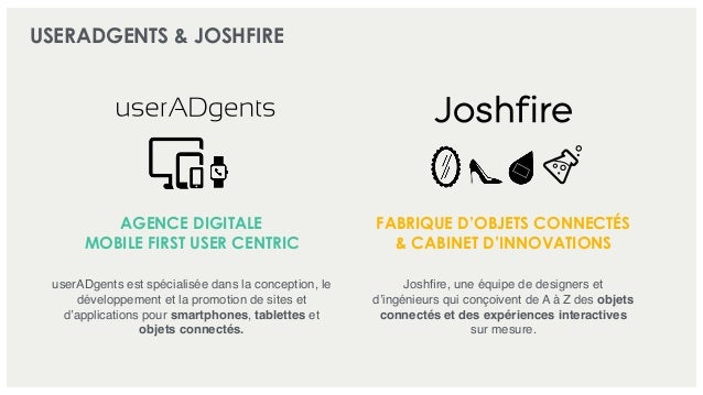 USERADGENTS & JOSHFIRE AGENCE DIGITALE MOBILE FIRST USER CENTRIC FABRIQUE D'OBJETS CONNECTÉS & CABINET D'INNOVATIONS userA...