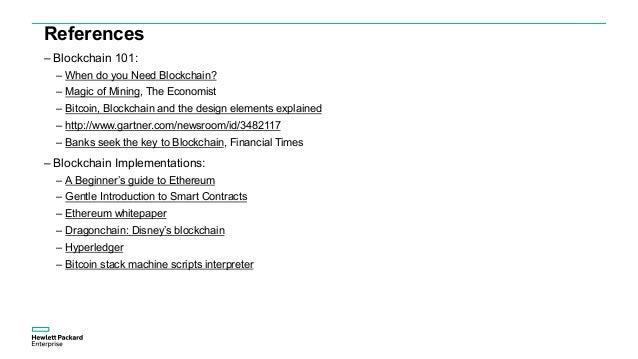 References – Blockchain Use Cases: – Securing IoT with Blockchain – For Insurers, #blockchain is the New Black – Blockchai...
