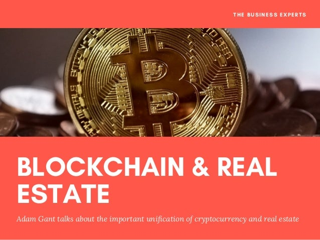 BLOCKCHAIN & REAL ESTATE Adam Gant talks about the important unification of cryptocurrency and real estate THE BUSINESS EX...