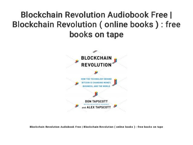 Blockchain Revolution Audiobook Free