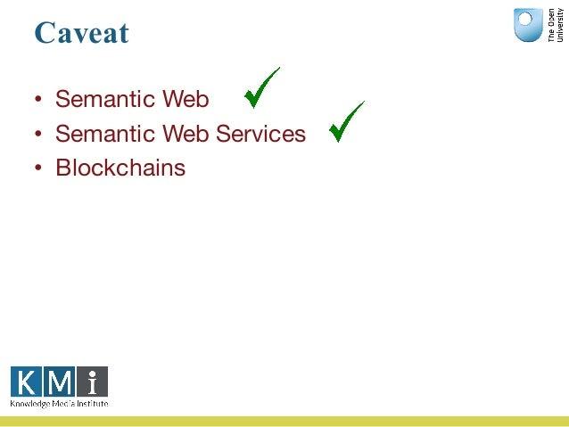 Caveat • Semantic Web • Semantic Web Services • Blockchains