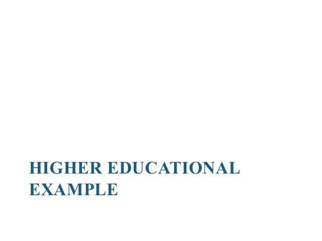 Higher Education Disaggregation