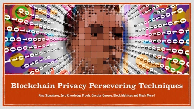 Blockchain Privacy Persevering Techniques Ring Signatures, Zero Knowledge Proofs, Circular Queues, Block Matrices and Much...
