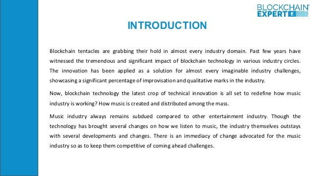 Blockchain technology in music industry Slide 2