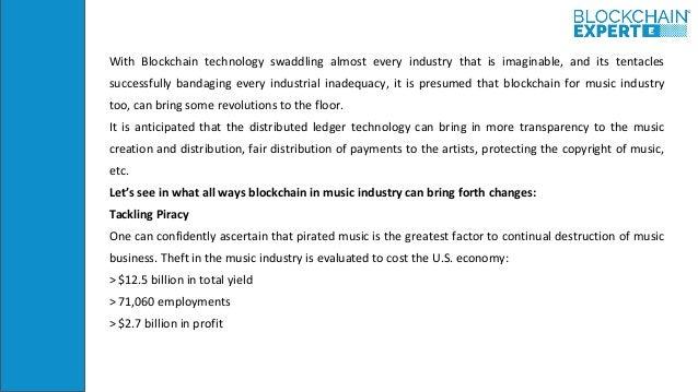 Blockchain technology in music industry Slide 3