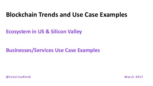 Rindi Lecture Blockchain Trends & Use Cases Slide 3