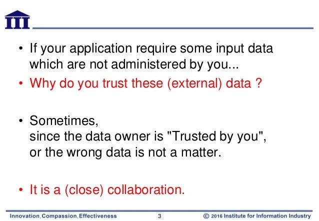 Blockchain - Why do we need a trust machine Slide 3