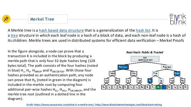 Merkel Tree AMerkletreeisa hashbaseddatastructure thatisageneralizationofthe hashlist.Itis a tree structur...