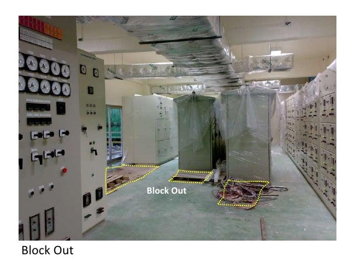 เจาะรู Block Out ไว้สำหรับวางตู้<br />Block Out ส่วนที่เหลือซึ่งไม่ได้ใช้งาน จะต้องทำการปิดไว้เพื่อป้องกันอันตราย<br />
