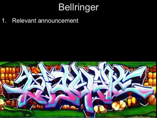Bellringer 1. Relevant announcement