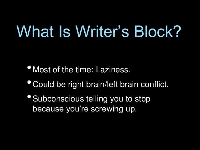 Writer's Block by Bob Mayer Slide 2