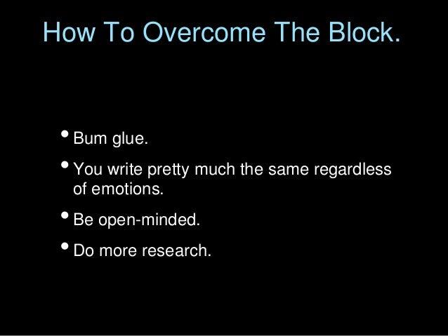 Writer's Block by Bob Mayer Slide 3
