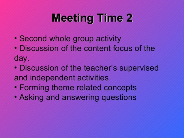 Managing Blocks Of Time In A Kindergarten Class