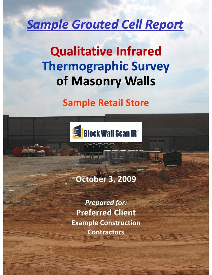 THERMOGRAPHIC REPORT # Sample Retail Store       SampleGroutedCellReport Your Town, USA October 4, 2009                ...