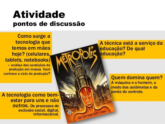 Discussão sobre o filme Metrópolis Slide 2