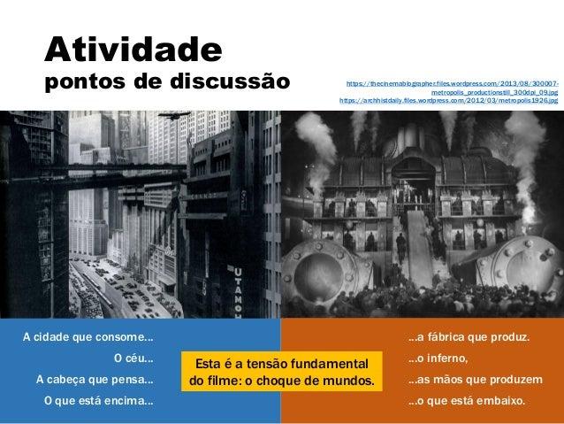 Discussão sobre o filme Metrópolis Slide 3