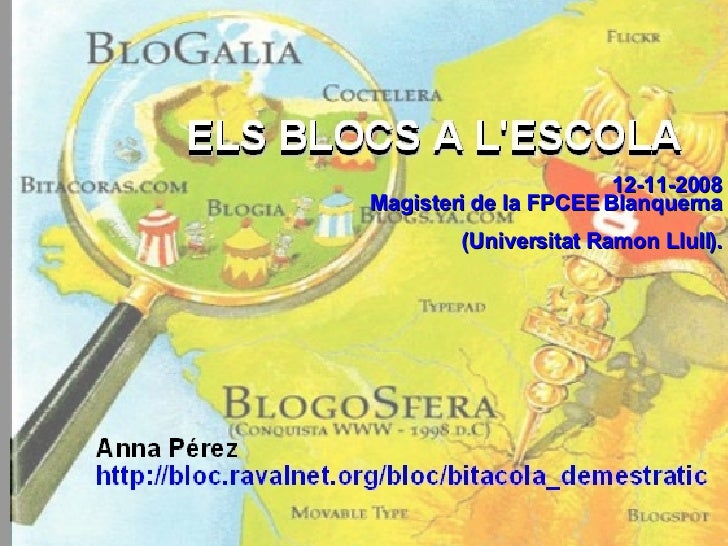 12-11-2008 Magisteri de la FPCEE Blanquerna (Universitat Ramon Llull).