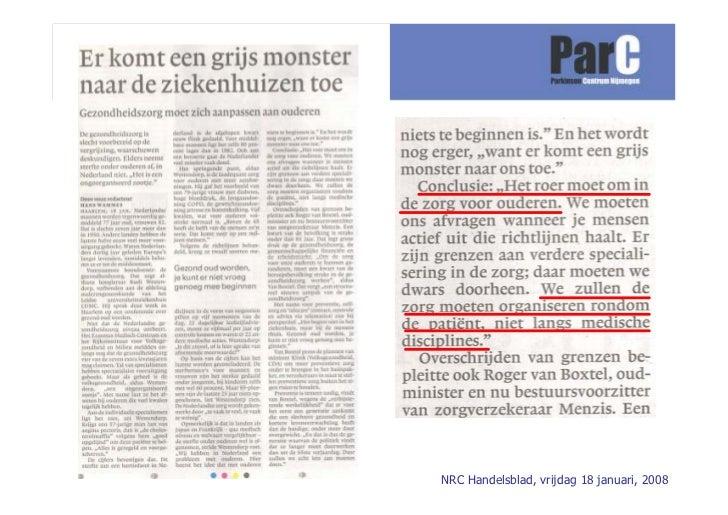 NRC Handelsblad, vrijdag 18 januari, 2008
