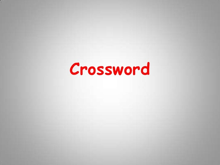 Crossword<br />
