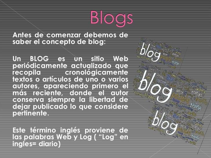 Presentación: Como hacer un blog Slide 2