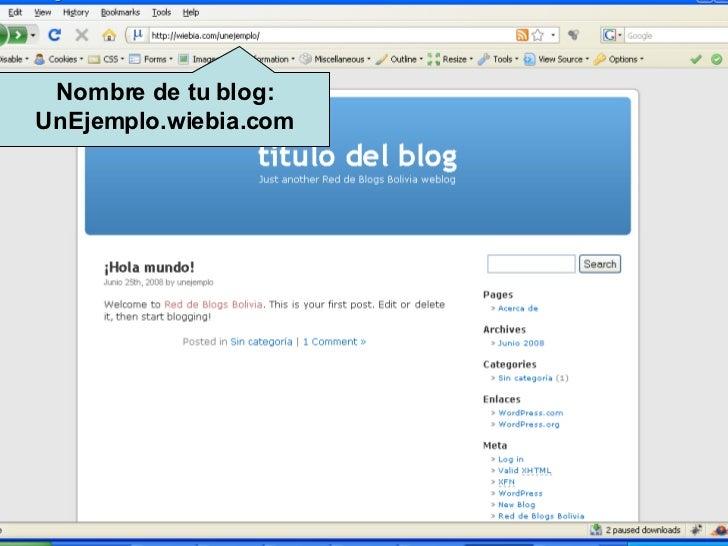 Nombre de tu blog: UnEjemplo.wiebia.com