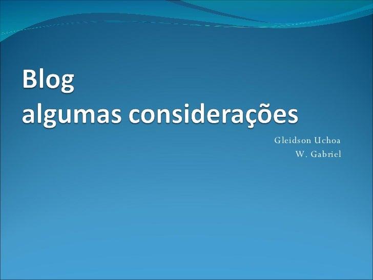 Gleidson Uchoa W. Gabriel