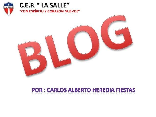 """C.E.P. """" LA SALLE"""" """"CON ESPÍRITU Y CORAZÓN NUEVOS"""""""