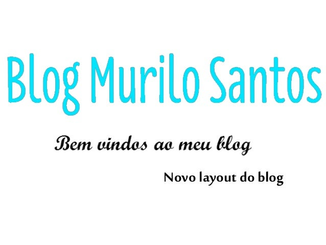 Novolayout do blog