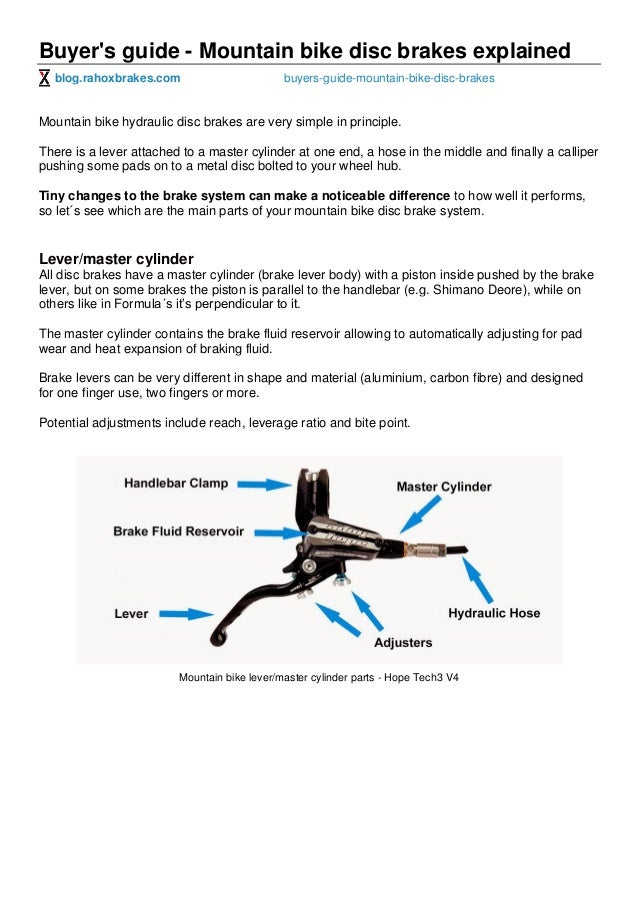 Diagram Of Disc Brakes Bicycle Automotive Wiring Diagram