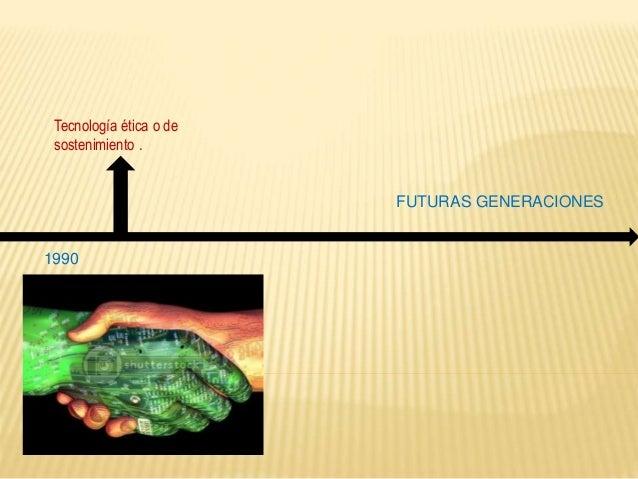 Tecnología ética o de sostenimiento.  1990 FUTURAS GENERACIONES