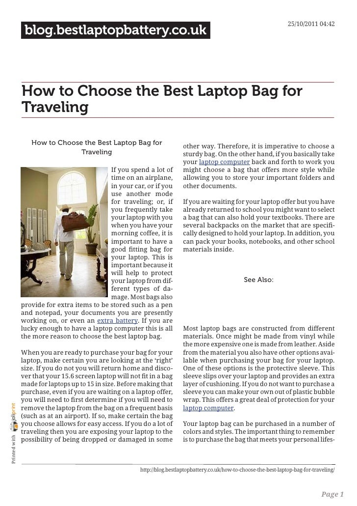 Blog.bestlaptopbattery.co.uk-How to Choose the Best Laptop Bag for Traveling 50560157b5d34