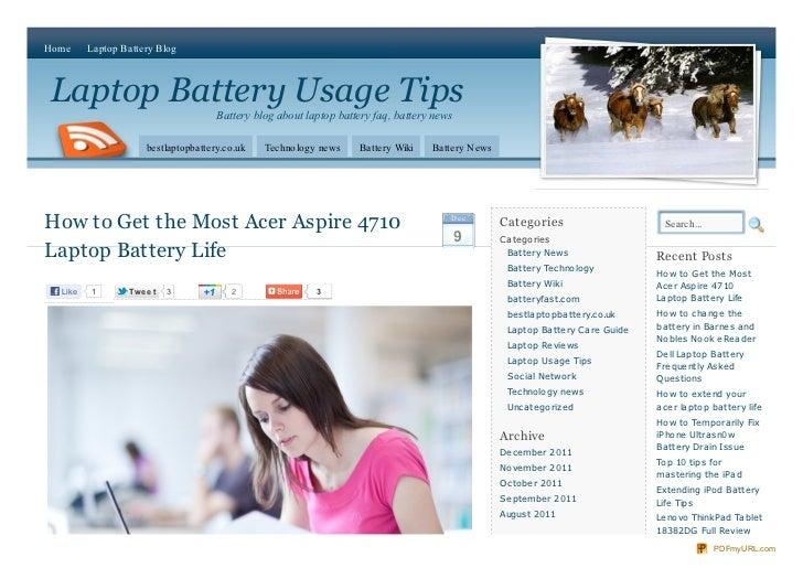 Home     Laptop Battery BlogLaptop Battery Usage Tips                                      Battery blog about laptop batte...