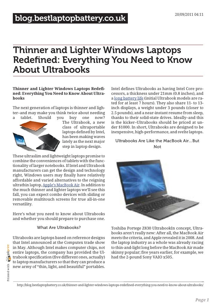20/09/2011 04:11                 blog.bestlaptopbattery.co.uk                Thinner and Lighter Windows Laptops          ...