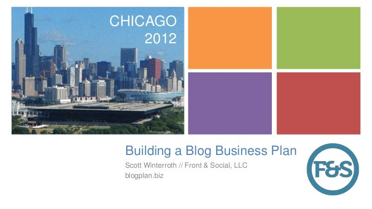 bloggers business plan