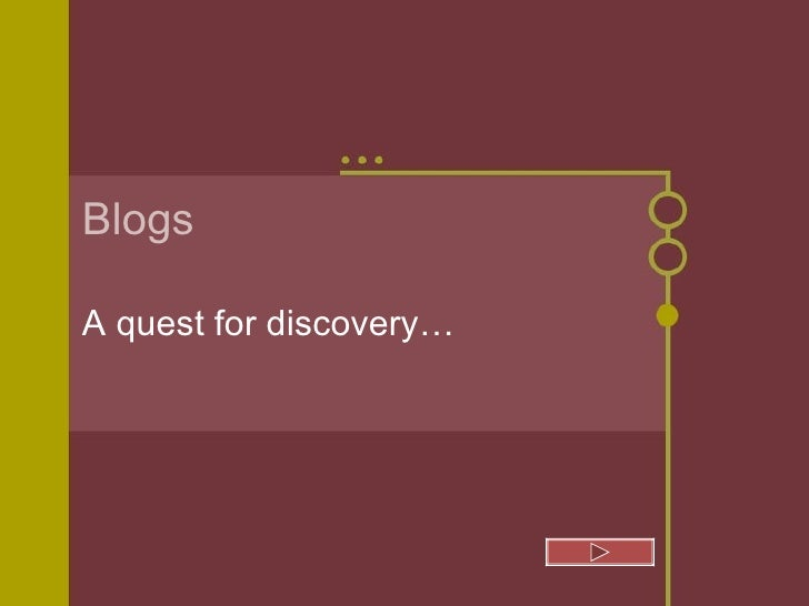 Blogs A quest for discovery…
