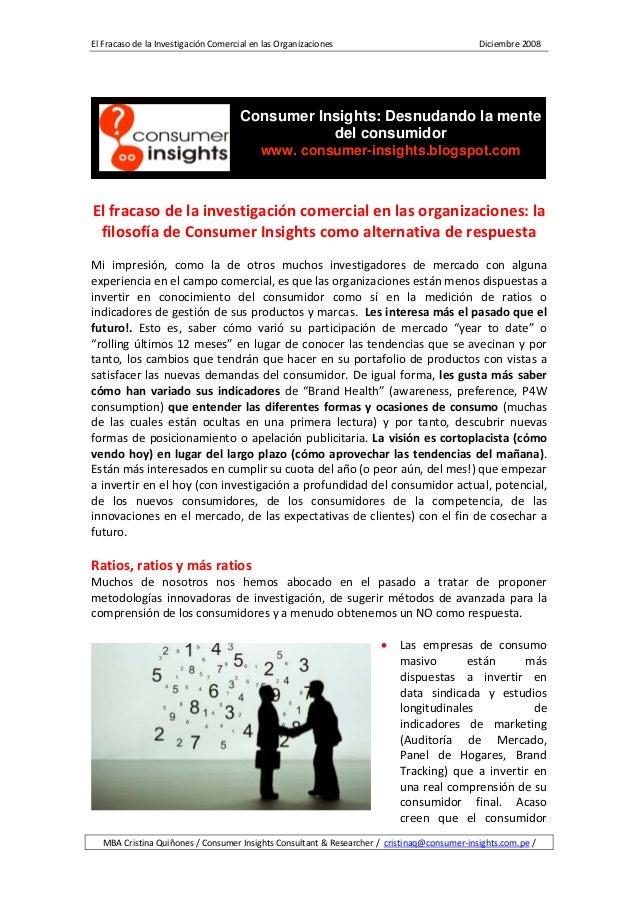 ElFracasodelaInvestigaciónComercialenlasOrganizaciones...