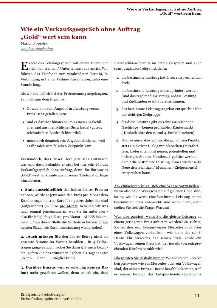 erfolgreiche preisstrategien preise finden optimieren verhandeln 10 11 wie ein verkaufsgesprch - Verkaufsgesprach Beispiel