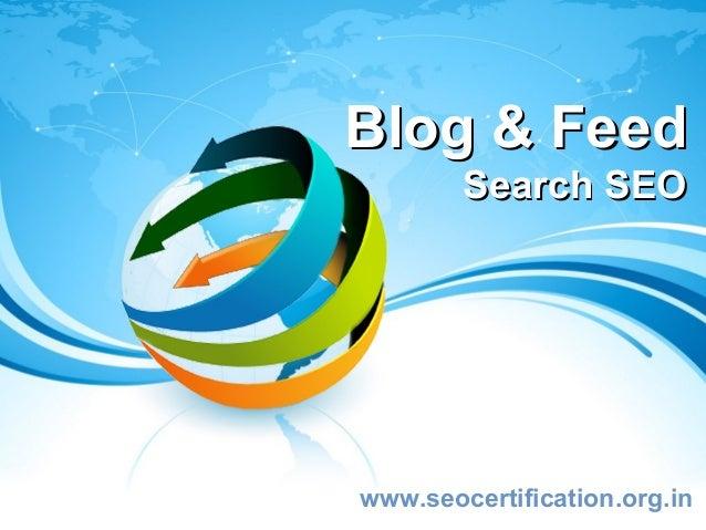 Blog & Feed        Search SEOwww.seocertification.org.in