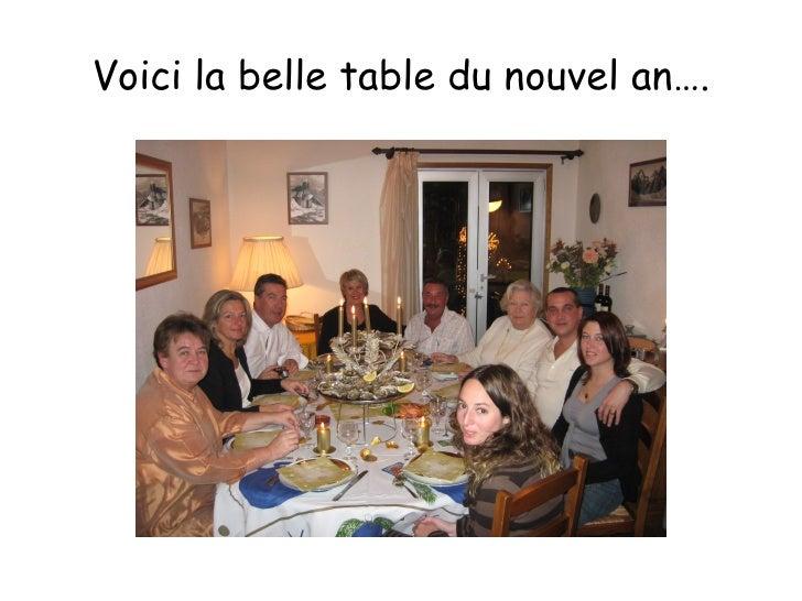 Voici la belle table du nouvel an….